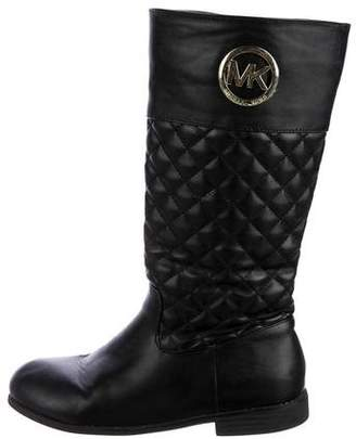 MICHAEL Michael Kors Girls' Quilted Leather Boots