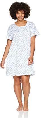 Carole Hochman Women's Plus Size Printed Henley Sleepshirt