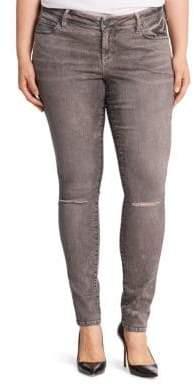 Slink Jeans, Plus Size Plus Distressed Skinny Jeans