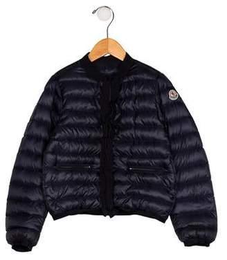 Moncler Girls' Down Zip-Up Jacket