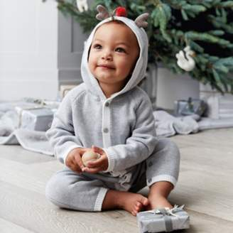 The White Company Reindeer Knitted Romper