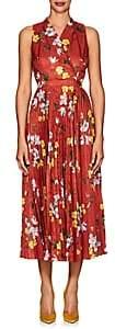 Erdem Women's Noemi Floral Jacquard Midi-Dress - Rust