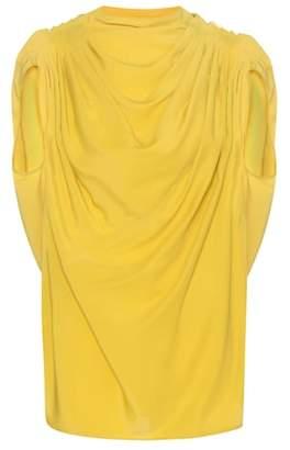 Rick Owens Draped silk-blend top