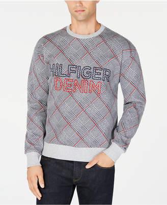 Tommy Hilfiger Men's Plaid Logo Sweatshirt