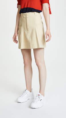 Carven Cotton Gabardine Miniskirt with Pocket