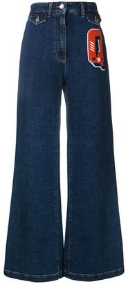 Dolce & Gabbana Q patch flared jeans