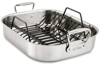 ALL-CLAD Large Stainless Steel Roasting Pan & Roaster Rack
