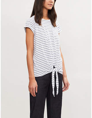 The White Company Striped cotton-jersey T-shirt