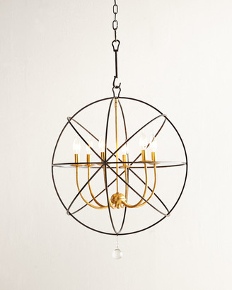 Horchow Gold Orbit 6-Light Chandelier