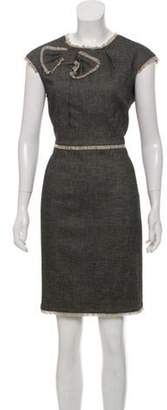 Etcetera by Edmond Chin Bow-Accented Woven Dress Grey Etcetera by Edmond Chin Bow-Accented Woven Dress