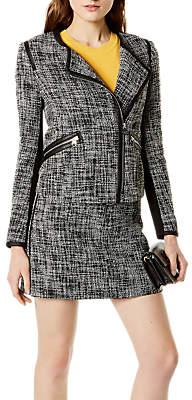 Karen Millen Fun Tweed Jacket, Black/White