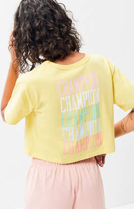 Champion Stacked Logo Cropped T-Shirt