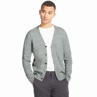 Uniqlo MEN Linen Blend V Neck Long Sleeve Cardigan
