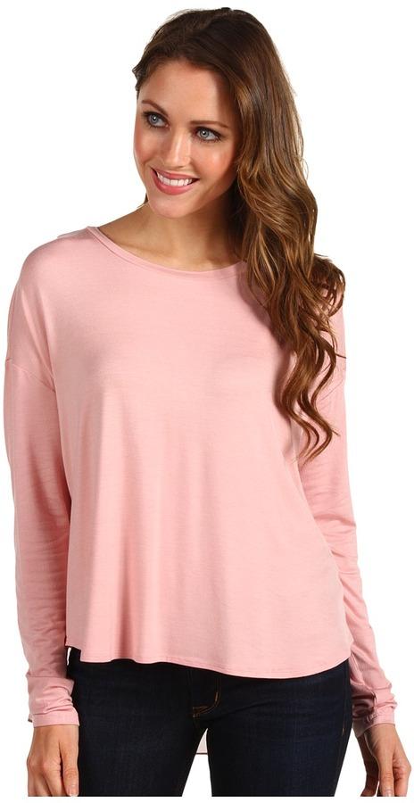 Kenneth Cole New York - Aubrey Long-Sleeve Split-Back Shirt (Petal Pink) - Apparel
