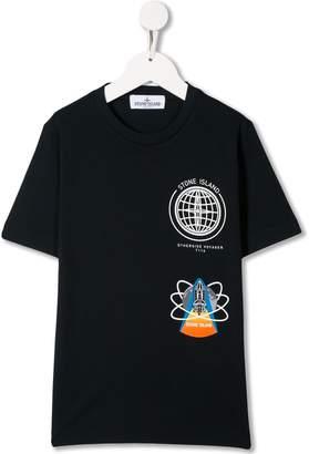 Stone Island Junior graphic print T-shirt