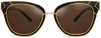 Tory Burch METAL-TRIM SUNGLASSES
