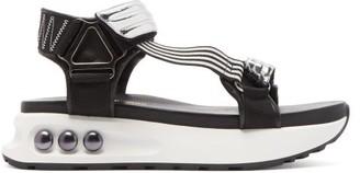 Nicholas Kirkwood Nkp3 Faux Pearl Inlay Leather Flatform Sandals - Womens - Silver