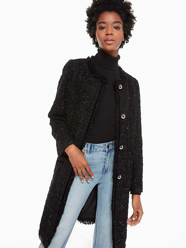 Sparkle Tweed Coat