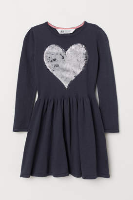 H&M Dress with Sequined Motif