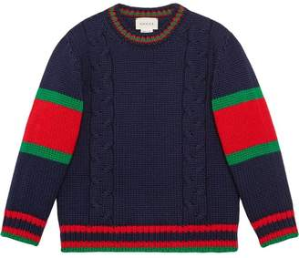 Gucci Kids Children's cable knit wool sweater