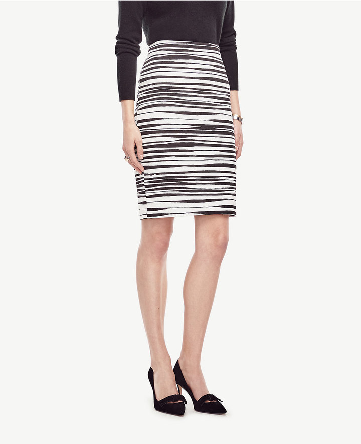 Ann Taylor Petite Zebra Pencil Skirt