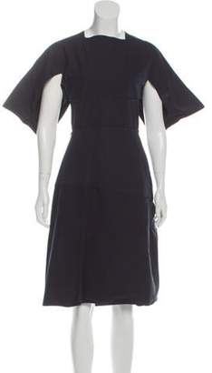 Bottega Veneta Short Sleeve Midi Dress Blue Short Sleeve Midi Dress