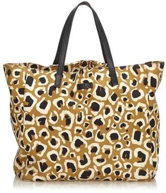 433829be3ec6 at Orchard Mile · Gucci Vintage Leopard Printed Nylon Tote Bag
