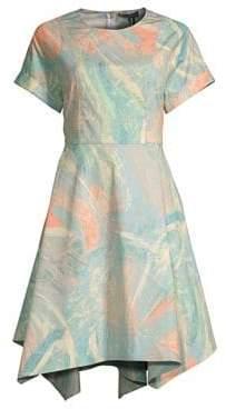 Donna Karan Crewneck Fit-and-Flare Dress