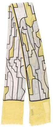 Emilio Pucci Printed Linen Scarf w/ Tags