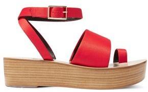 Tibi Janie Satin Platform Sandals