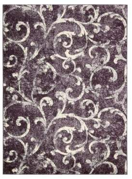 Kathy Ireland Home Santa Barbara Rug Collection- Dark Violet