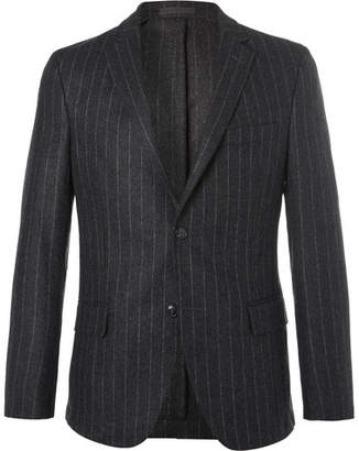 Officine Generale Grey Slim-Fit Pinstriped Wool-Flannel Blazer