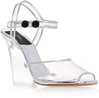 Marc Jacobs Women's Transparent High-Heel Wedge Sandals