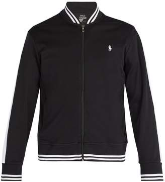 Polo Ralph Lauren Logo-embroidered jersey bomber jacket