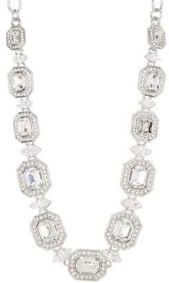 Carolee Emerald Cut Crystal Collar Necklace