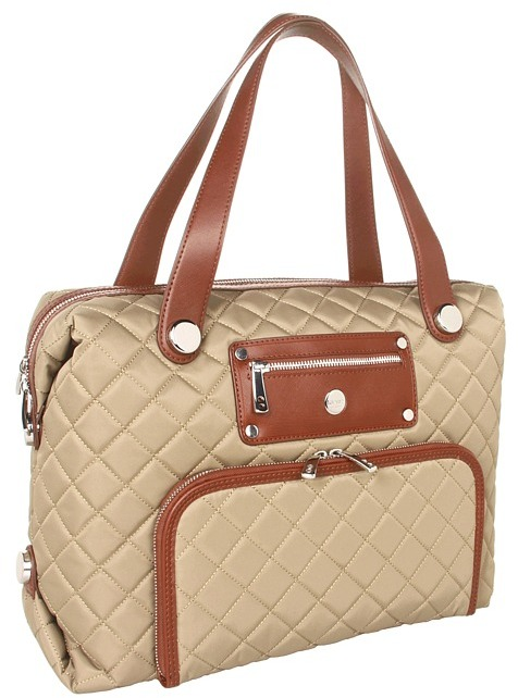 Knomo London - Lola Shoulder Laptop Bag (Khaki) - Bags and Luggage