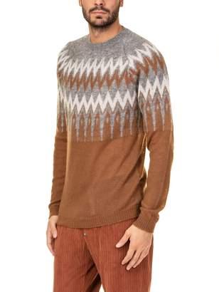 Laneus Alpaca Jacquard Crewneck Sweater
