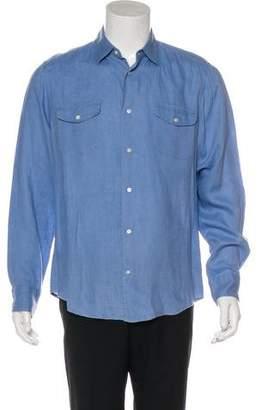 Vince Linen Woven Shirt