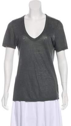 Etoile Isabel Marant V-Neck Short Sleeve Top