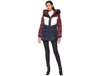 Vince Camuto Short Down Jacket with Storm Cuff and Faux Fur R1331
