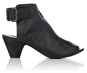 Marsèll WOMEN'S BUCKLE-STRAP LEATHER ANKLE BOOTS-BLACK SIZE 6