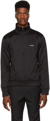 Valentino Black Jersey Zip-Up Track Jacket