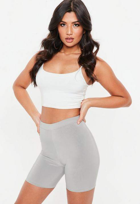 Grey Petite Slinky Cycling Shorts