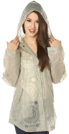 Free People The Utility Raincoat in Stone Combo