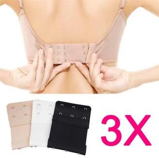 BEIGE Yaheetech 3 Pcs 3 Hooks Ladies Womens Bra Extenders Extension Expander Black White