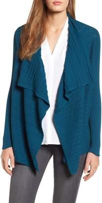 Chaus Mixed Knit Cotton Cardigan