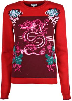 Kenzo Fitted Crew Neck Sweater