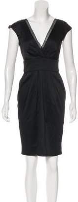 Philosophy di Alberta Ferretti Short Sleeve Knee-Length Dress