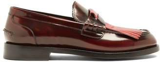 Burberry Contrast-fringed leather loafers