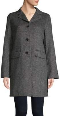 T Tahari Collared Wool-Blend Coat